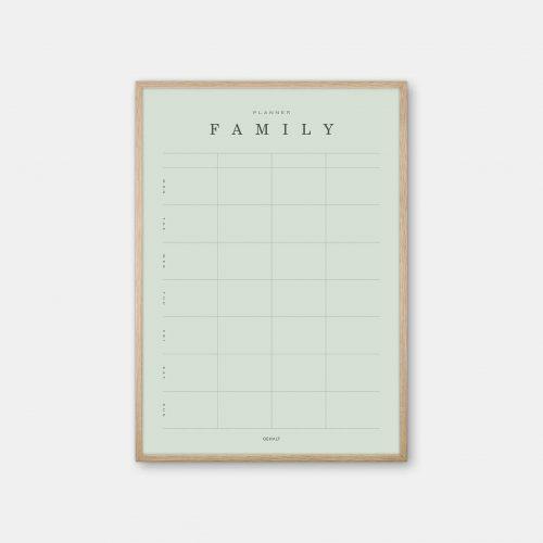 Gehalt-Family-Planner-4-Lightgreen-Poster-Oak-Frame