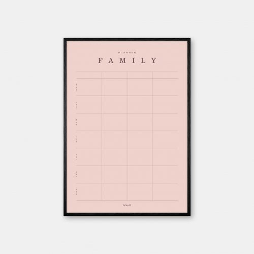 Gehalt-Family-Planner-Rose-Poster-Black-Painted-Frame