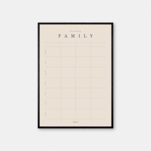Gehalt-Family-Planner-Sand-Poster-Black-Painted-Frame