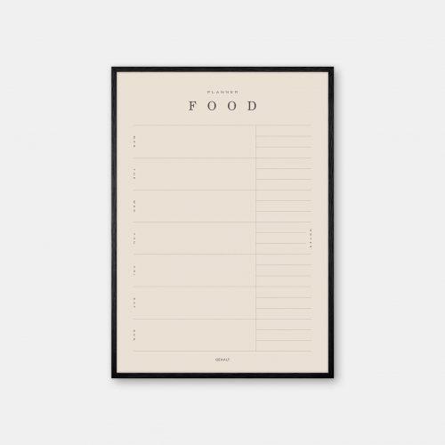 Gehalt-Food-Planner-Sand-Poster-Black-Painted-Frame