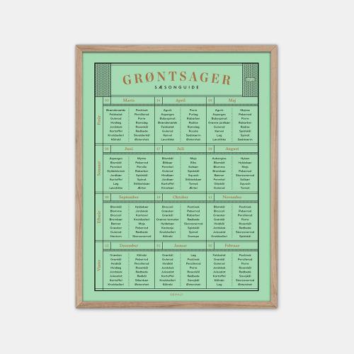 Gehalt-Groentsager-Plakat-Lysegroen-Eg-Ramme-D