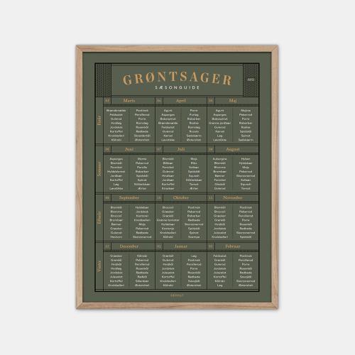 Gehalt-Groentsager-Plakat-Moerkegroen-Eg-Ramme-D