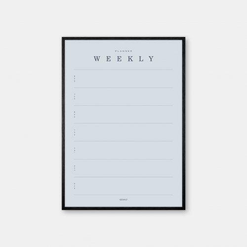 Gehalt-Weekly-Planner-Lightblue-Poster-Black-Painted-Frame