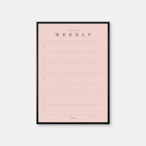 Gehalt-Weekly-Planner-Rose-Poster-Black-Painted-Frame
