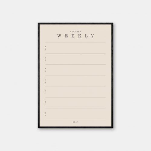 Gehalt-Weekly-Planner-Sand-Poster-Black-Painted-Frame