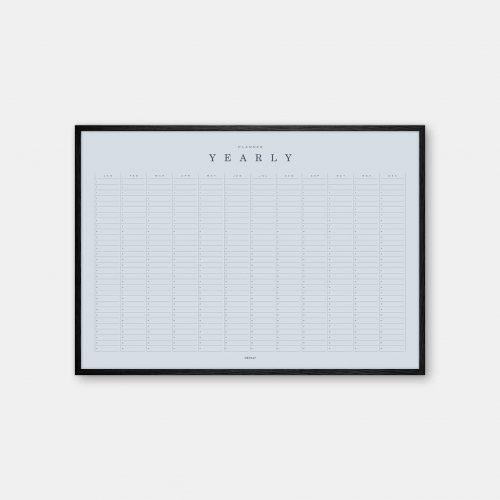 Gehalt-Yearly-Planner-Lightblue-Poster-Black-Painted-Frame