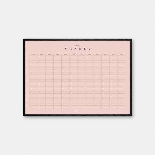 Gehalt-Yearly-Planner-Rose-Poster-Black-Painted-Frame