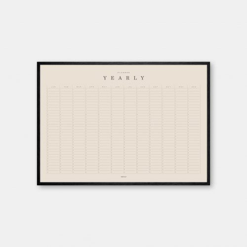 Gehalt-Yearly-Planner-Sand-Poster-Black-Painted-Frame