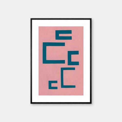 Katrine-Engman-Caseless-Plakat-Sort-Ramme