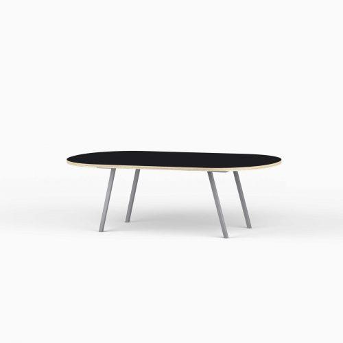 Line-View-Lounge-Table-Krydsfiner-Sofa-Bord-Nero-Mellem-graa-ben