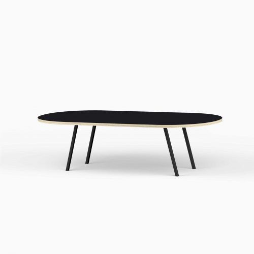 Line-View-Lounge-Table-Krydsfiner-Sofa-Bord-Nero-Stort-sort-ben