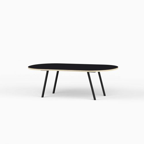 Line-View-Lounge-Table-Krydsfiner-Sofa-Bord-Nero-Stort-sort-ben