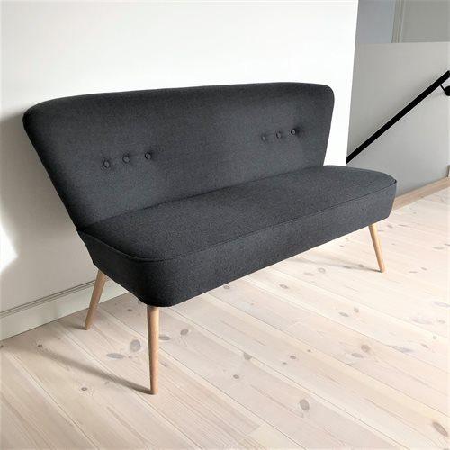 Lounge Sofa Lys Mørk Grå Træ Skrå Gulv -t