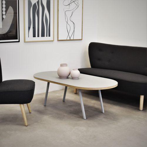 Lounge table medieum kryds kant TAB sofa