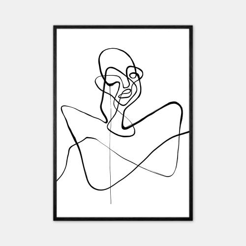 Peytil-Grumpy-Plakat-Sort-Ramme-D