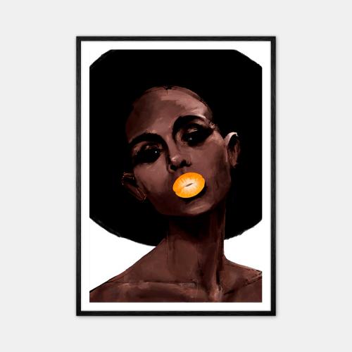 Peytil-Mandarin-Plakat-Sort-Ramme-D
