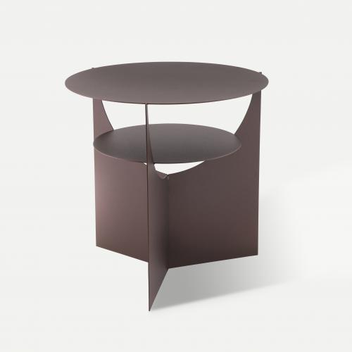 Side-by-side-table-kobbel brun-sidebord-lounge-bord-domusnord