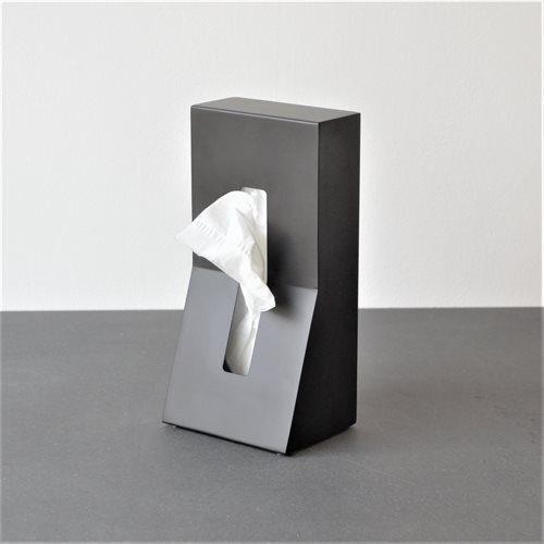 Stand elegant servietholder stål sort-p