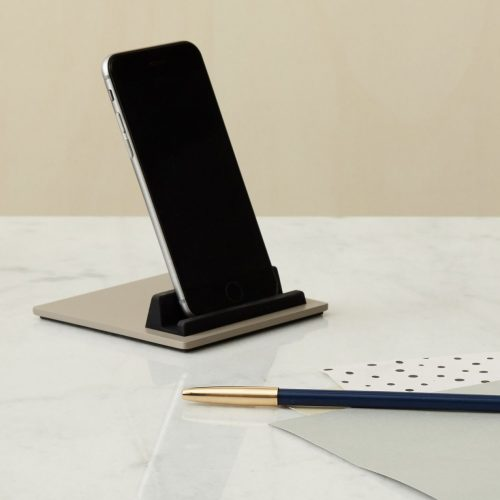 Tile iPad & iPhone holder - cosy grey / lysegrå