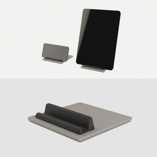 Tile-Ipad-Holder-Iphone-Holder-Tablet-holder-mobil-holder-Graa-Cosy-Grey-Kva-Domusnord-3
