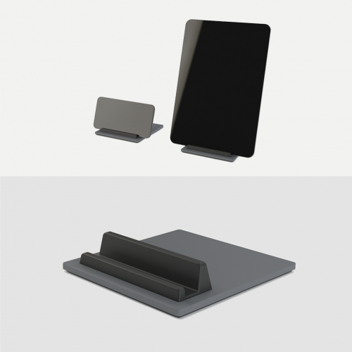 Tile-Ipad-Holder-Iphone-Holder-Tablet-holder-mobil-holder-Graa-Granite-Grey-Kva-Domusnord-3