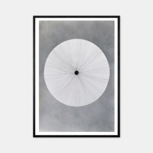 Winsløv-Cool-Gray-Circle-Plakat-Sort-Ramme-D