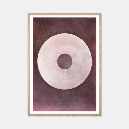 Winsløv-Giant-Raspberry-Circle-Plakat-Eg-Ramme-50x70-D