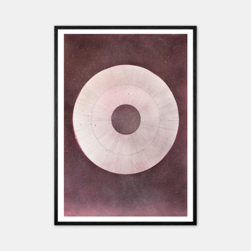 Winsløv-Giant-Raspberry-Circle-Plakat-Sort-Ramme-D