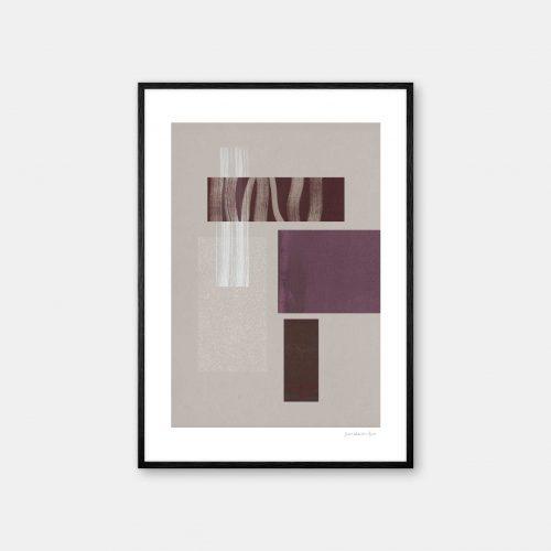 julia-hallstroem-burgundy-plakat-sort-ramme-P