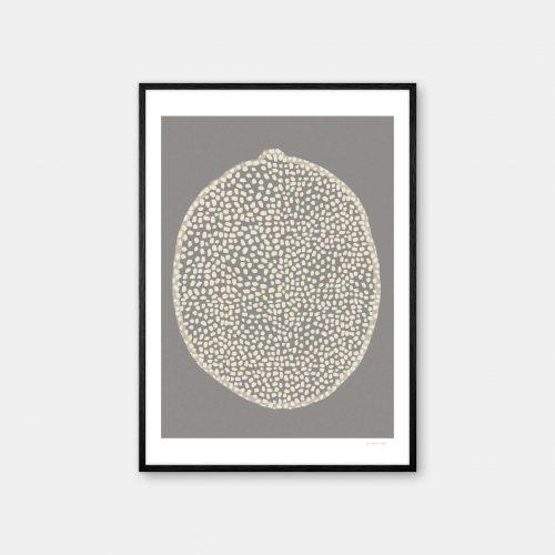 julia-hallstroem-citrus-plakat-sort-ramme