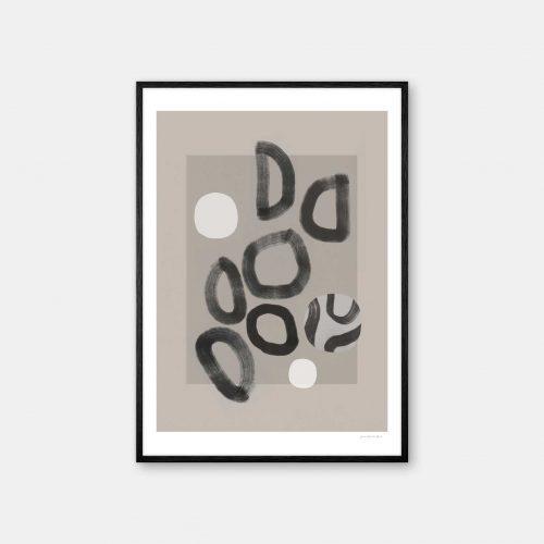 julia-hallstroem-collection-plakat-sort-ramme