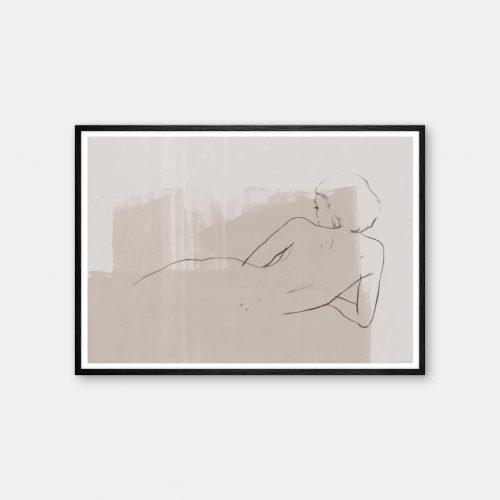julia-hallstroem-croquis-plakat-sort-ramme