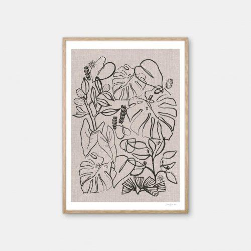 julia-hallstroem-garden-plakat-eg-ramme