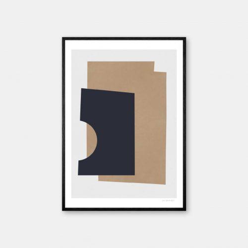 julia-hallstroem-leather-plakat-sort-ramme