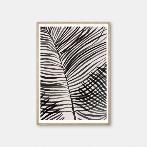 julia-hallstroem-palm-leaves-plakat-eg-ramme