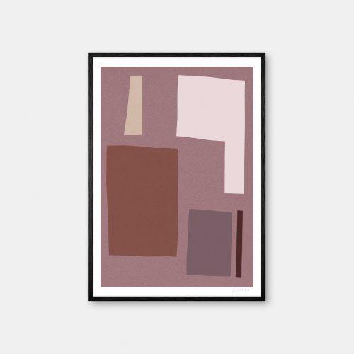julia-hallstroem-rasberry-plakat-sort-ramme