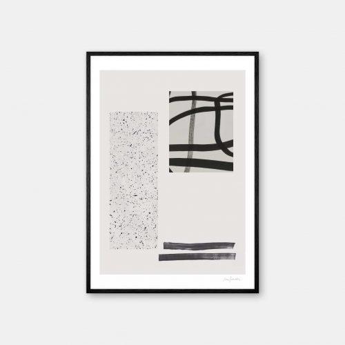 julia-hallstroem-shiro-plakat-sort-ramme