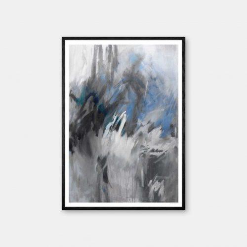 julia-hallstroem-storm-plakat-sort-ramme