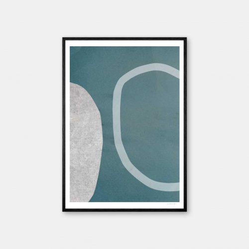 julia-hallstroem-turquoise-plakat-sort-ramme