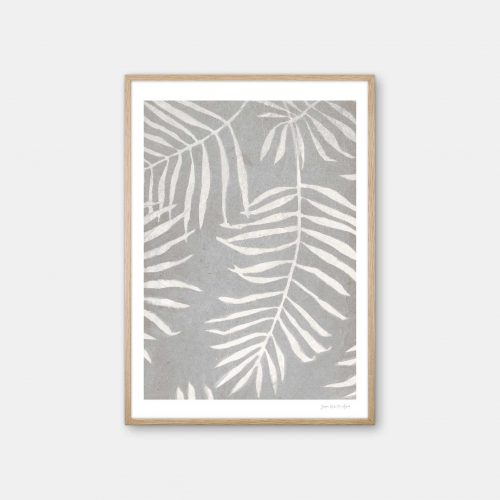 julia-hallstroem-white-leaves-plakat-eg-ramme